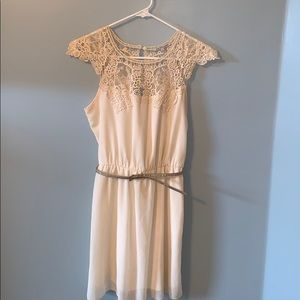 Charlotte Russe cream colored sleeveless dress